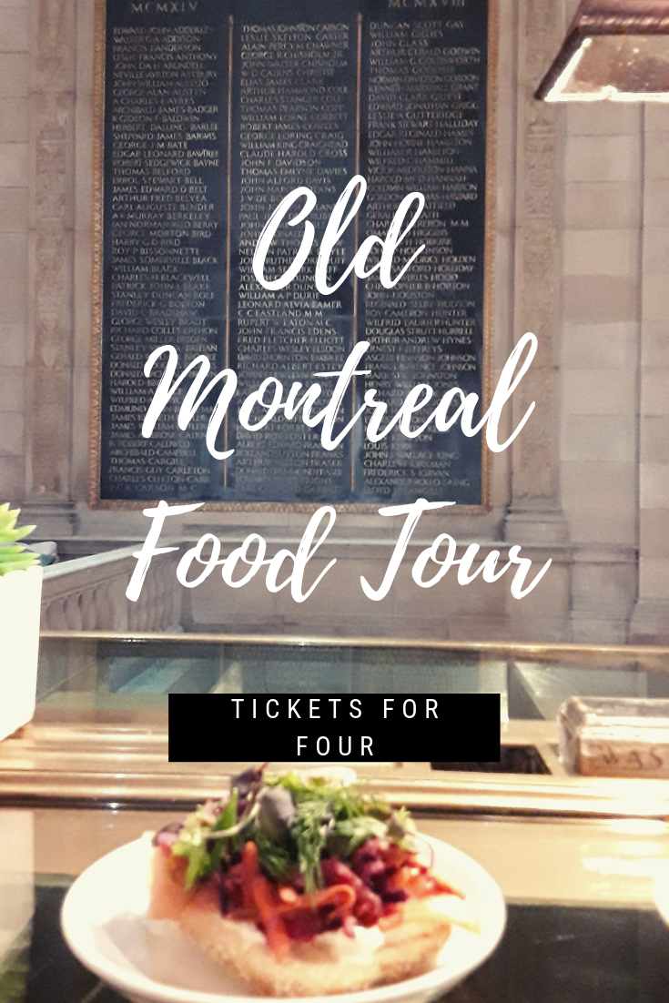 On the Old Montreal Food Tour: The Old Montreal Food Tour is a unique way to experience and explore everything that Old Montreal has to offer. It is a mixture of food, history, and an adventure through Old Montreal that you may not get to experience otherwise. Here is what you need to know. #WhattodoinMontreal #MontrealFoodTour #Montreal #FoodTour #FoodDestinations #Foodie